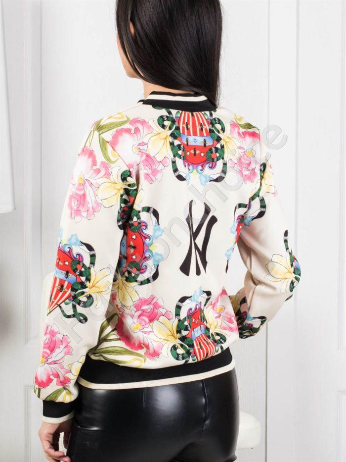 Пролетно цветно дамско якенце NY в цвят шампанско-код 1243