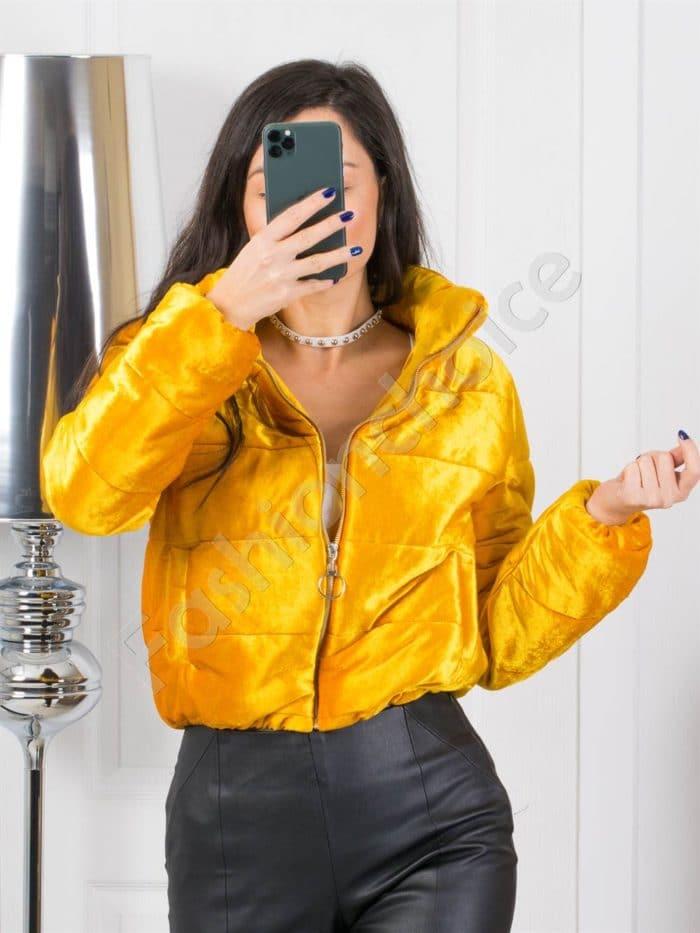 Кокетно плътно дамско якенце в златисто-Код 1368-4