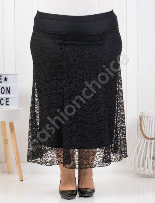 Елегантна макси дантелена пола в черно-код 475