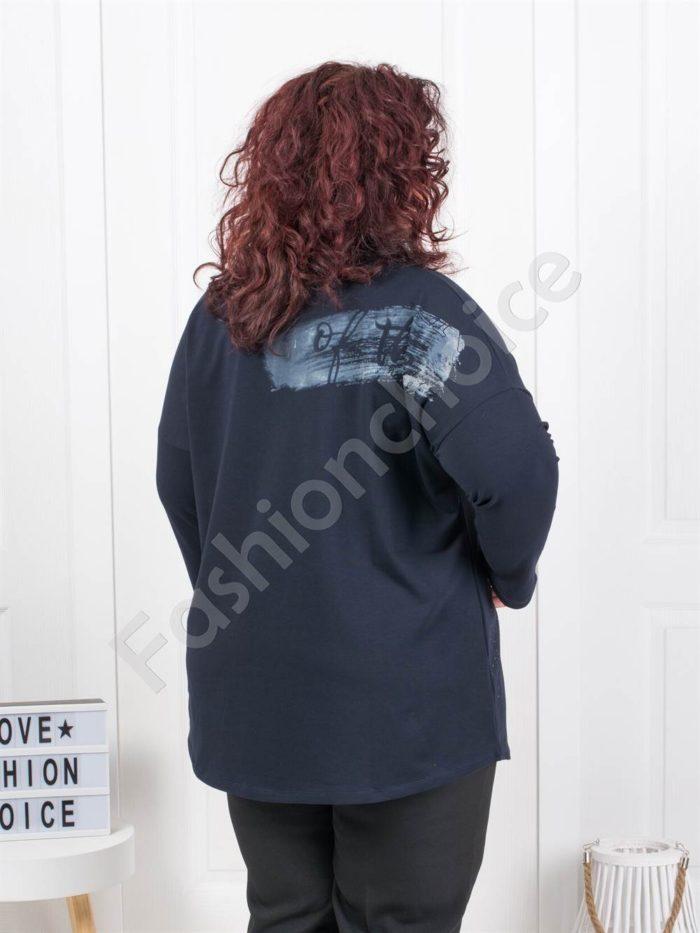 Прекрасна макси туника с интересна щампа- момиче Код: 6706