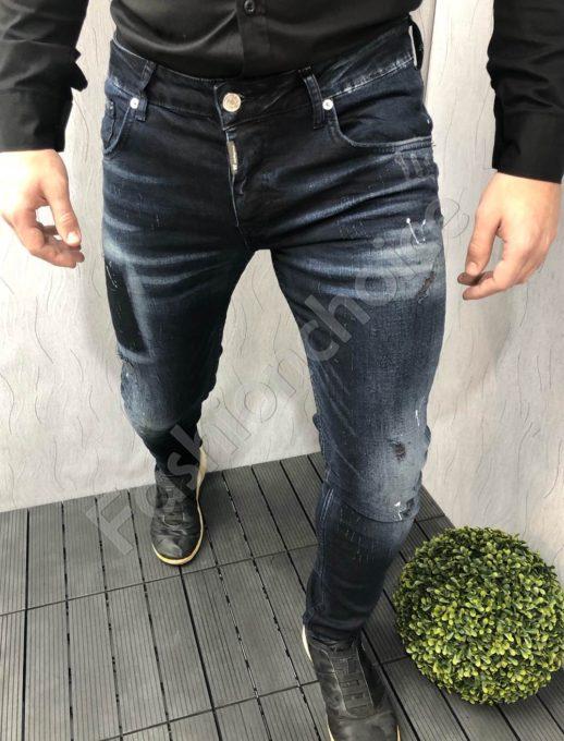 Мъжки дънки в тъмно син деним-код 2393