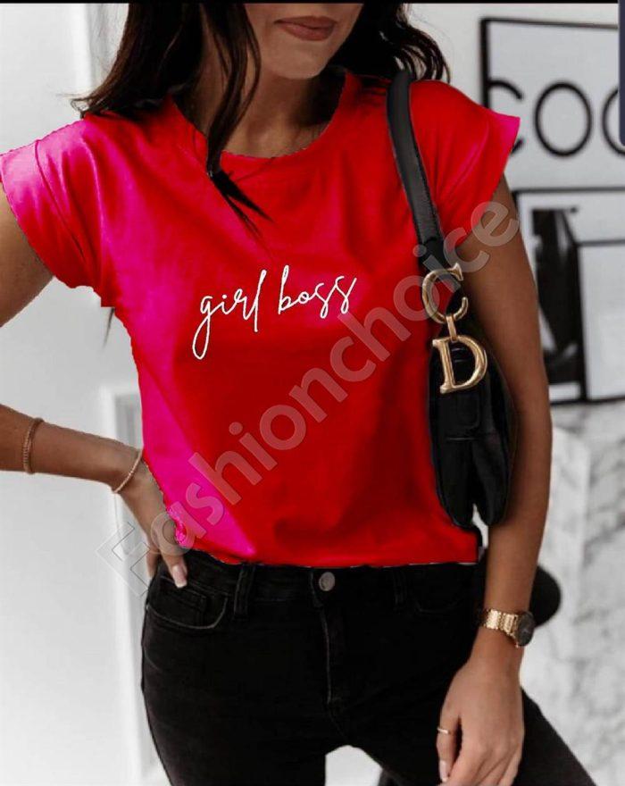 Дамска тениска с нежен надпис