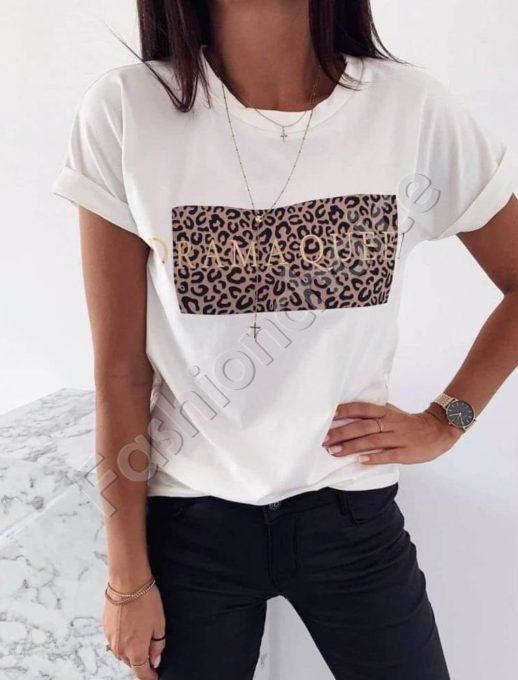 Дамска тениска с тигрова щампа