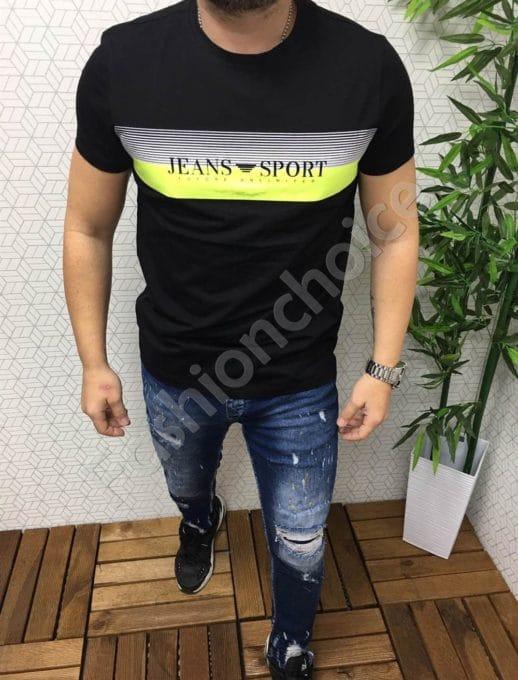 Мъжка тениска със свежа щампа /XL-5XL/