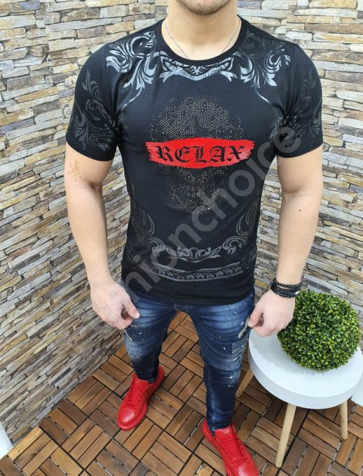 Мъжка тениска в черно