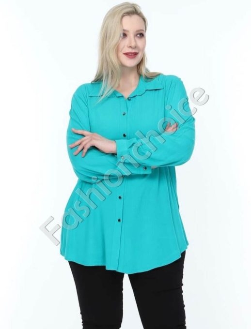 Дамска макси ризка в свеж цвят мента-код 1412-3