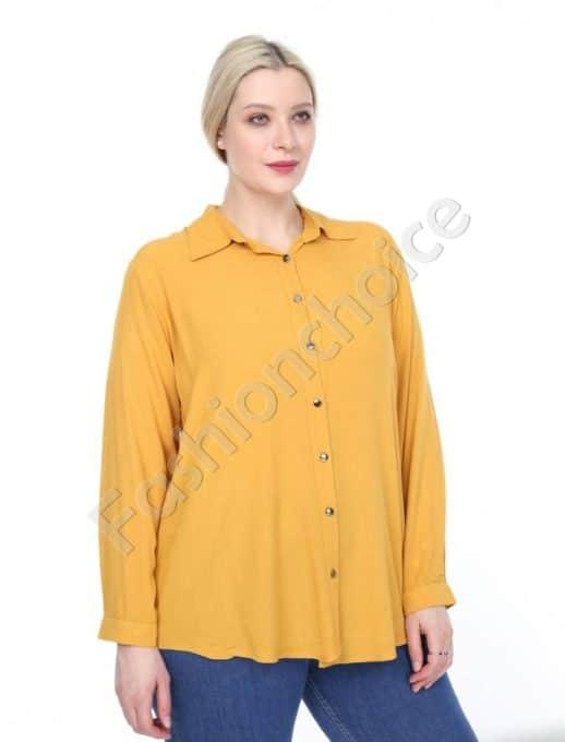 Прекрасна дамска макси ризка в цвят горчица-код 1412-5