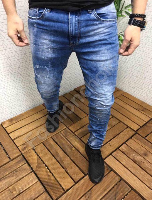 Мъжки дънки с леко напръскан ефект/48-58/-код 800