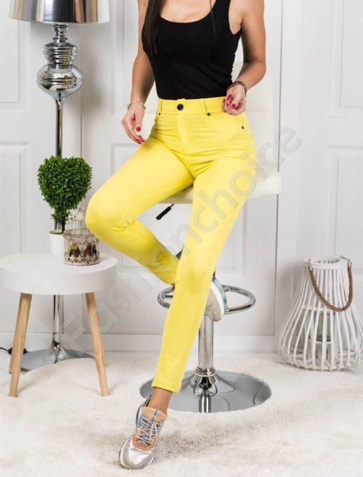 Дамски клин-панталон в слънчев жълт цвят- код 244-2