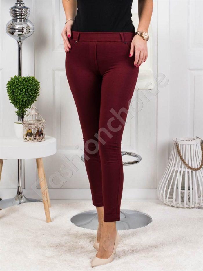 Дамски клин-панталон в цвят бордо- код 244