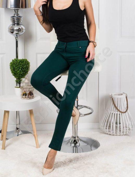 Дамски клин-панталон в тъмнозелен нюанс- код 244-1