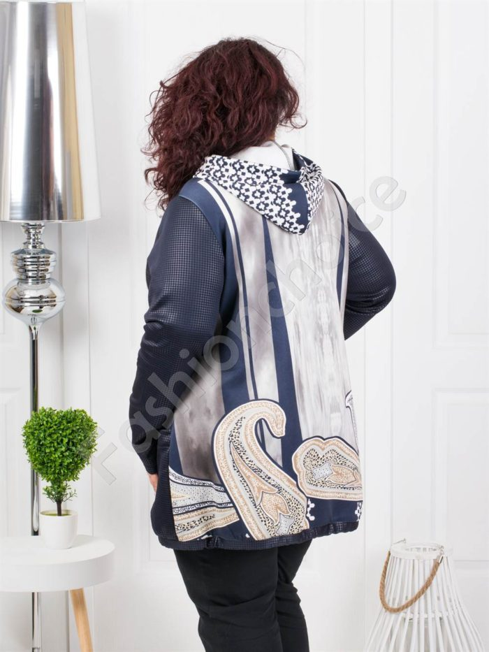 Пролетен дамски макси жакет в красив нежен десен-Код 20842