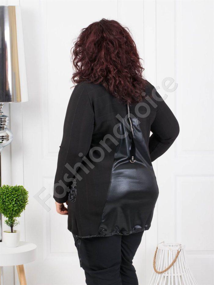 Дамска макси туника с кокетни дантелени джобчета-код 1171