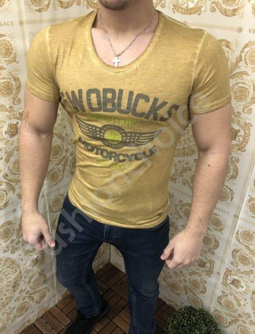 Мъжка тениска с надпис TWOBUCKS-код 341-3
