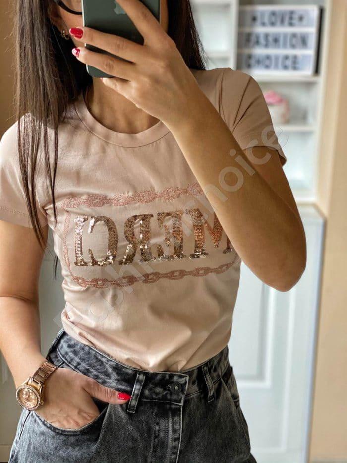 Дамска блуза MERCI с пайети