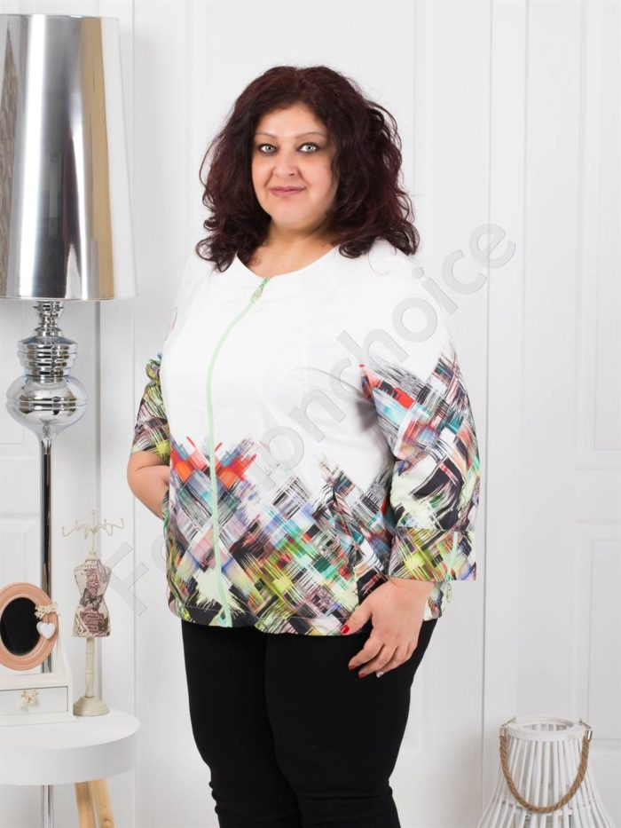 Тънко пролетно макси якенце в свежи цветове