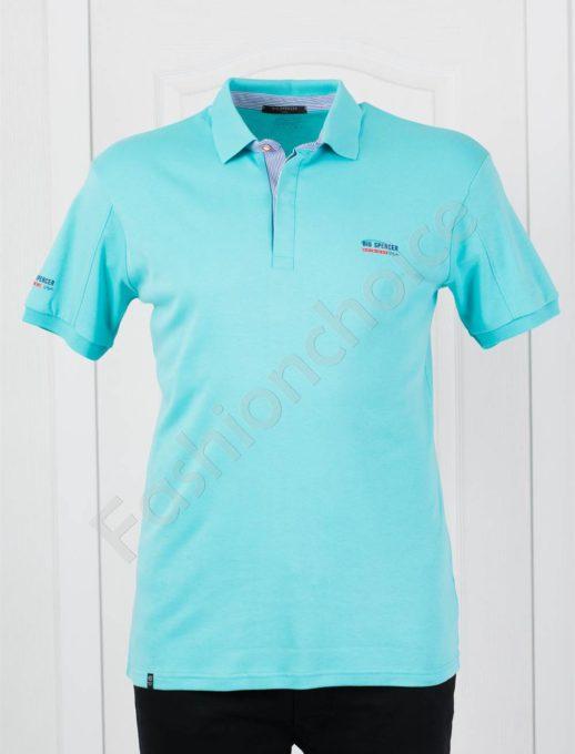 Мъжка макси тениска с якичка