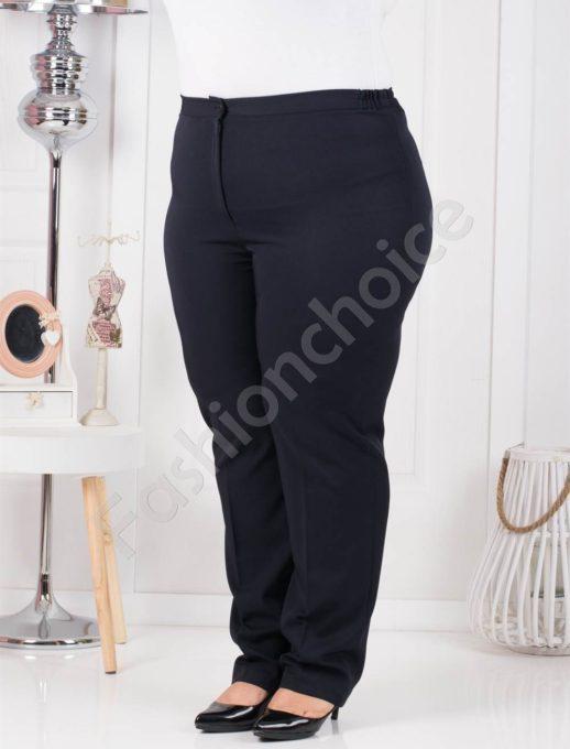 Пролетен класически макси панталон в тъмно син цвят-код 013-4