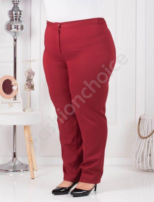 Пролетен класически макси панталон в приятно червено-код 013-1