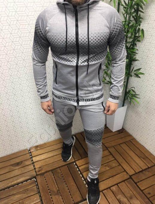 Мъжки спортен комплект в светло сиво-Код 303