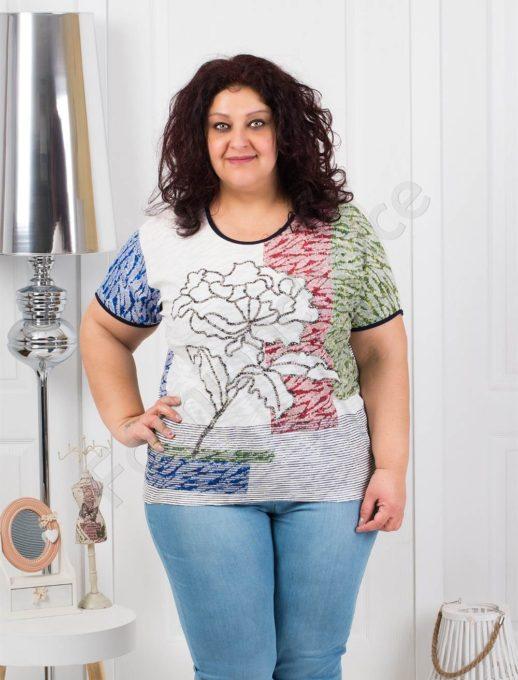 Дамска макси блузка с цвете