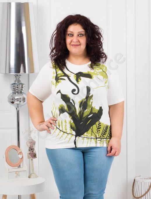 Макси блузка с нежни цветни мотиви