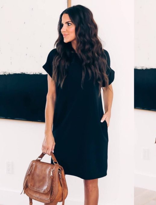 Спортно-елегантна рокля в черен нюанс Код 108-5