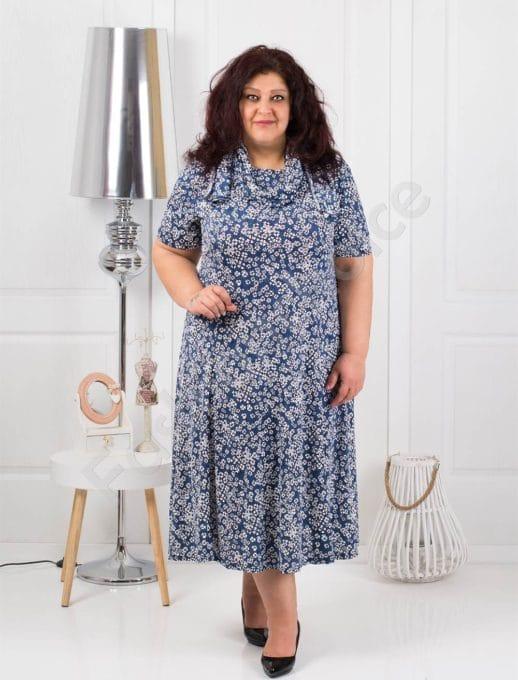 Практична разкроена макси рокля+подарък шалче-код 537-4