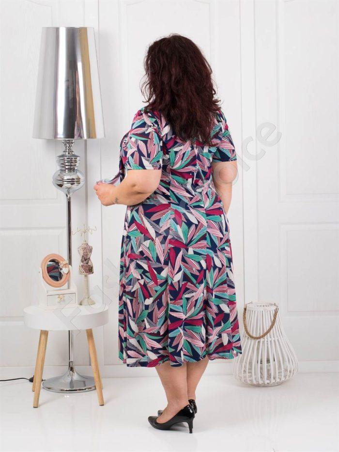 Свежа разкроена макси рокля+подарък шалче-код 537-6