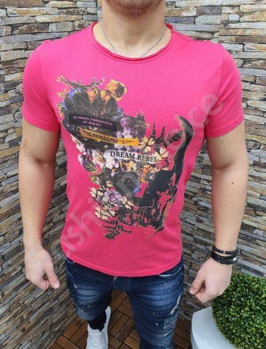 Мъжка тениска DREAM REBEL в циклама-Код 220-2