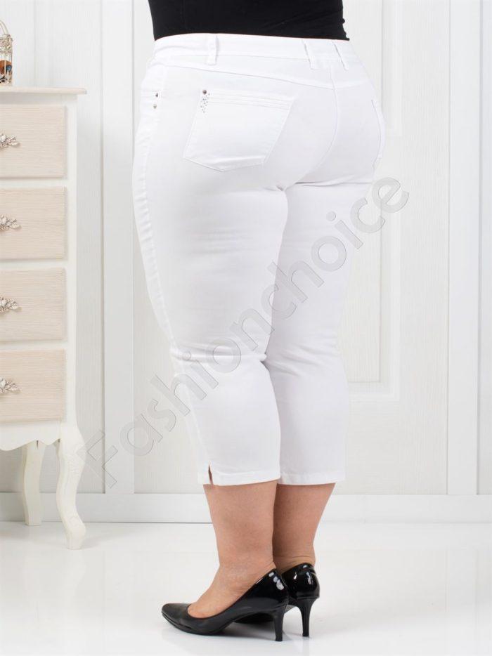 Дамски панталон в нежен бял цвят 7/8 дължина-код 838-1