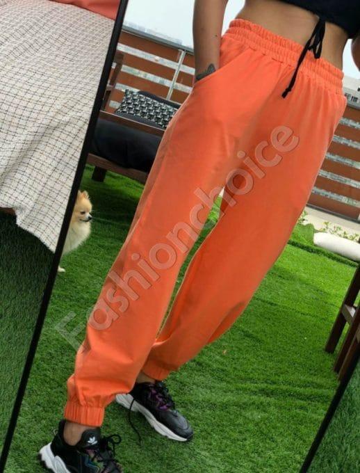 Дамски спортен панталон в свеж оранжев цвят-код 955