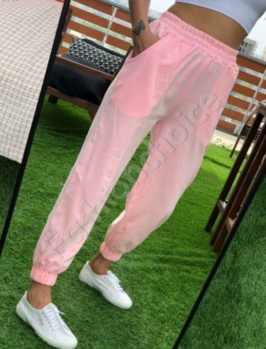 Дамски спортен панталон в розово-код 955-2