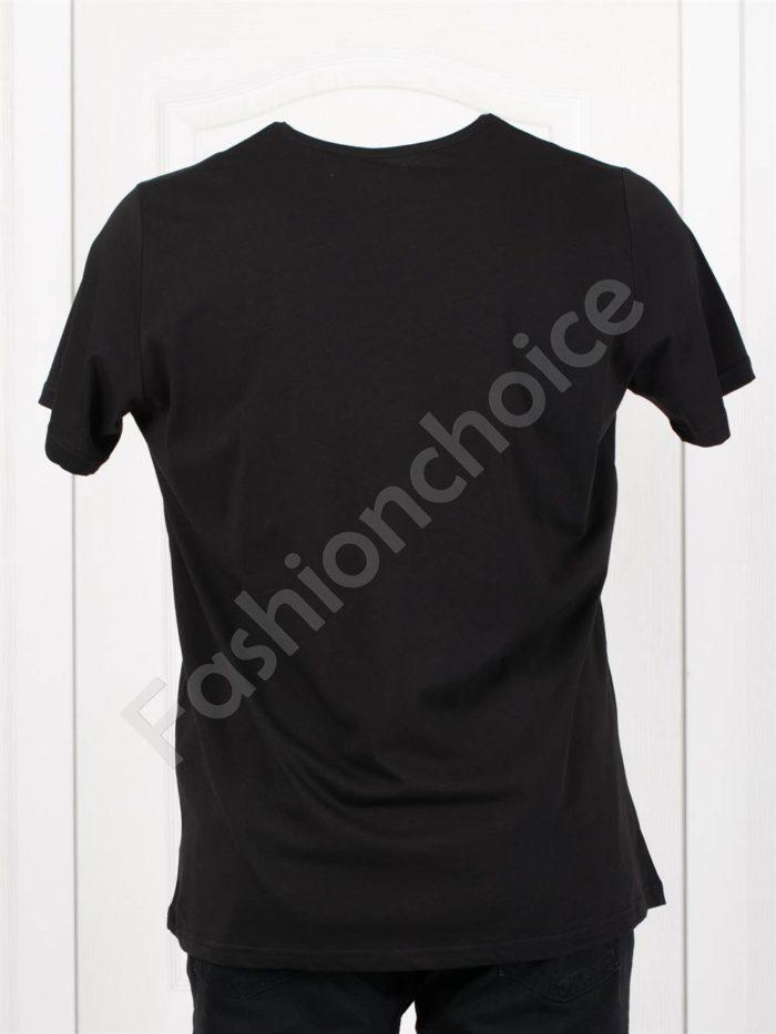 Мъжка макси тениска с щампа CHAMPION в черно-код 118-1