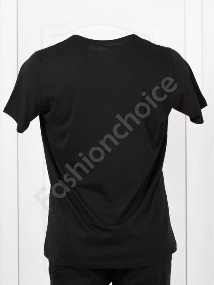 Мъжка макси тениска с щампа MOTORS в черно/3XL-8XL/-код 116