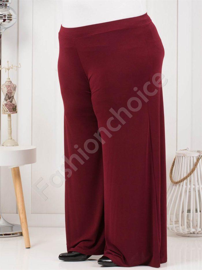 Дамска макси пола-панталон в бордо-код 538-4