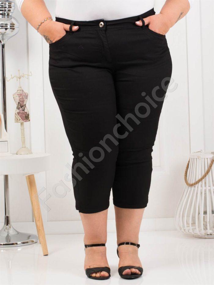 Дамски макси панталон 7/8 дължина в класическо черно-код 838