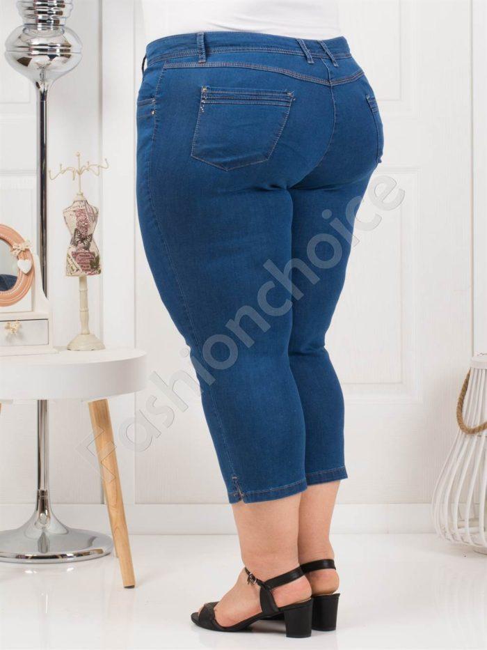 Дамски макси тънки дънки в светъл деним-7/8 дължина-код 838-6