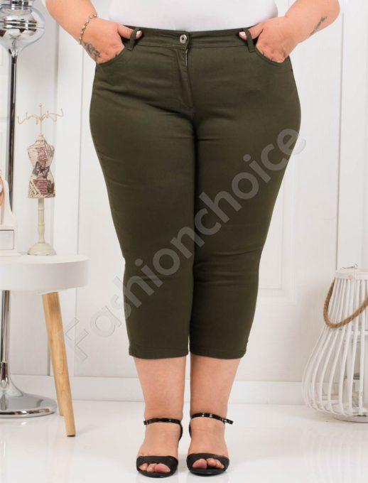 Дамски макси панталон в цвят каки 7/8 дължина-код 838-2