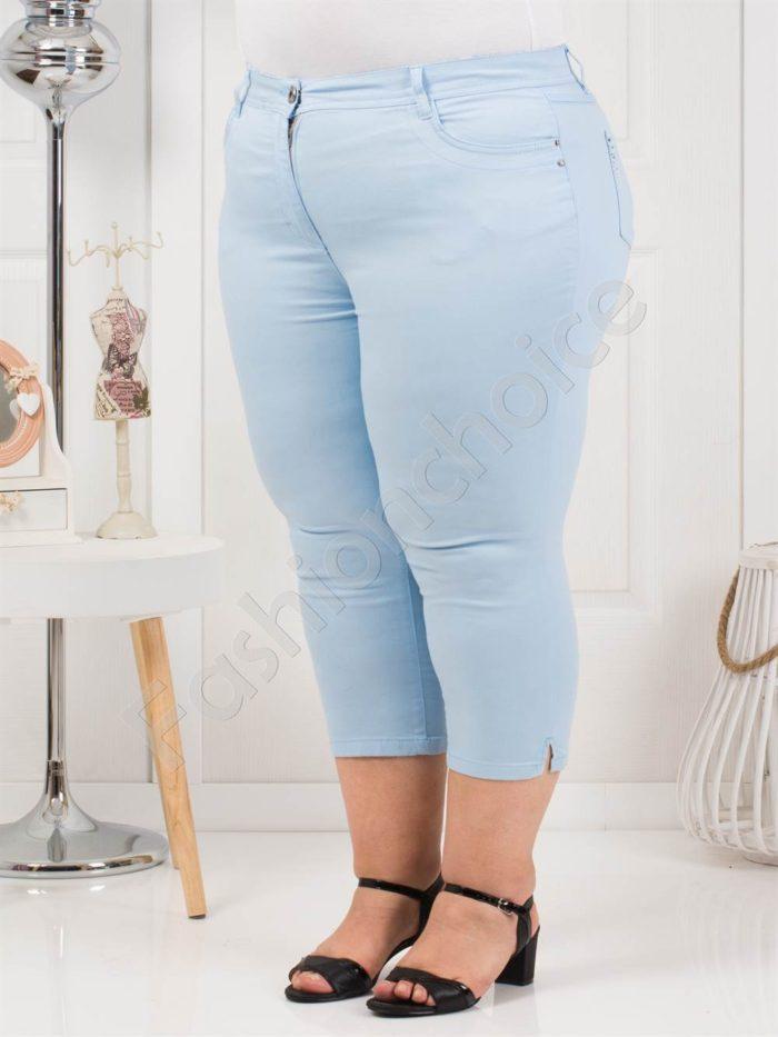 Дамски макси панталон в светло синьо-7/8 дължина-код 838-4