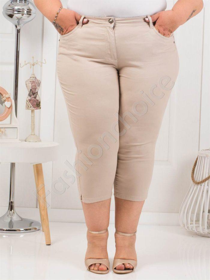 Дамски макси панталон 7/8 дължина в цвят капучино-код 838-3