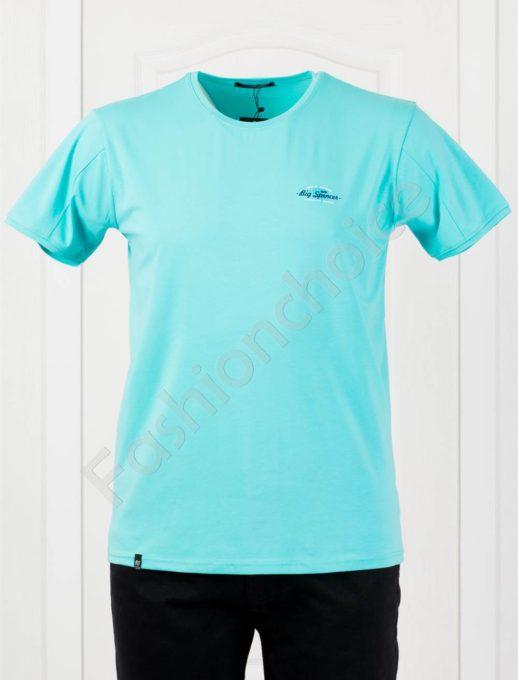 Изчистена мъжка макси тениска в цвят мента-код 073-5