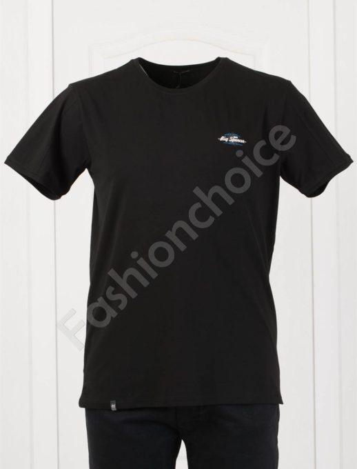 Изчистена мъжка макси тениска в черно-код 073-8
