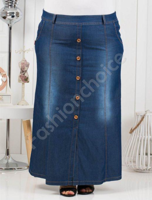 Чудесна макси дънкова пола от тънък летен деним