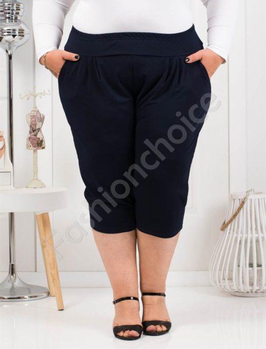 Практичен макси 7/8 панталон в тъмно синьо-код 7047-1