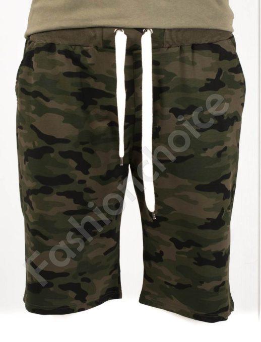 Мъжки макси къси панталони в камуфлажен десен-каки-код 511