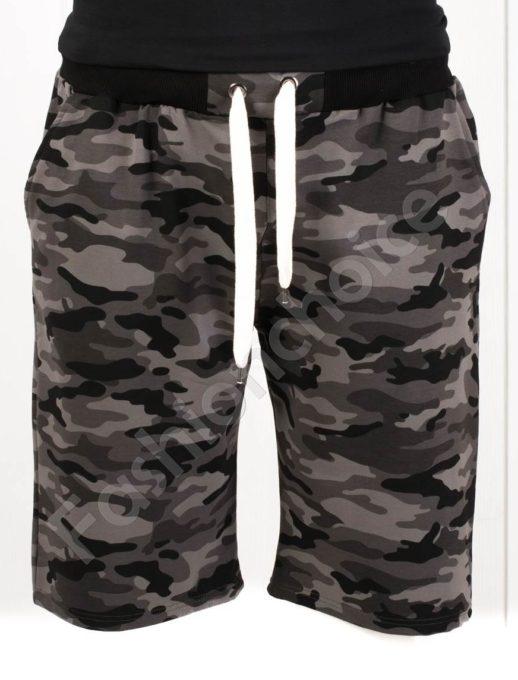 Мъжки макси къси панталони в камуфлажен десен-черно-код 511-1
