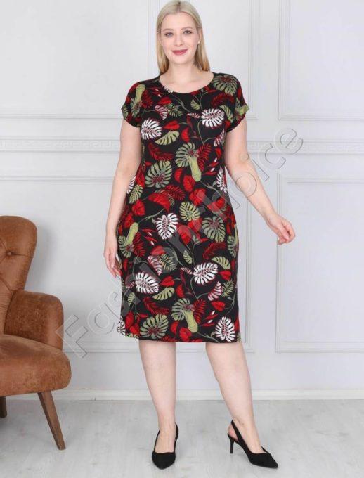 Нежна дамска макси рокля в свеж цветен десен-код 944-8