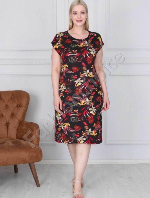 Цветна дамска макси рокля в свеж нежен десен-код 944-9