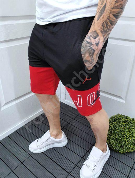 Мъжки къси панталонки в черно и червено-код 3006-2